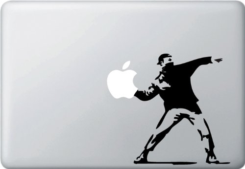 Molotov-Guy-Throwing-Apple-Vinyl-Laptop-Macbook Decal