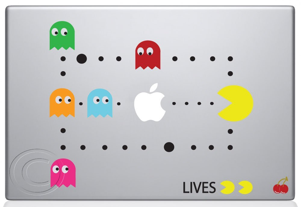 Pac-Man-Scene-Macbook-Decal